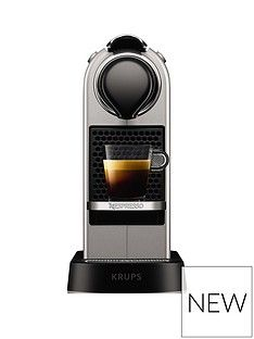 Nespresso Nespresso By Krups Citiz Xn741B40 Pod Coffee Machine - Silver Best Price, Cheapest Prices
