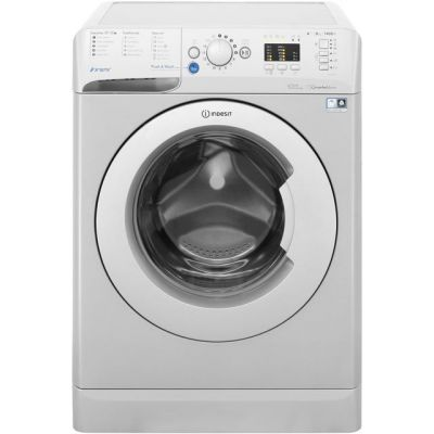 Indesit Innex BWA81483XSUK 8Kg Washing Machine with 1400 rpm - Silver - A+++ Rated Best Price, Cheapest Prices