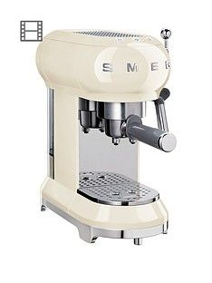 Smeg ECF01 Espresso Coffee Machine - Cream Best Price, Cheapest Prices