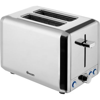 Swan Classic ST14062N 2 Slice Toaster - Polished Stainless Steel Best Price, Cheapest Prices