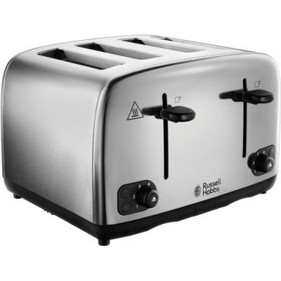Russell Hobbs Adventure 24090 4 Slice Toaster - Stainless Steel Best Price, Cheapest Prices