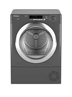 Candy Grand'O Vita Gvsc9Dcgr 9Kg Load Condenser Sensor Tumble Dryer With Smart Touch - Graphite Best Price, Cheapest Prices