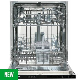 Bush DW12LSINT Full Size Integrated Dishwasher - White Best Price, Cheapest Prices