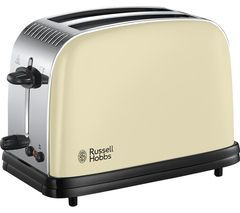 RUSSELL HOBBS Colours Plus 23334 2-Slice Toaster - Cream Best Price, Cheapest Prices