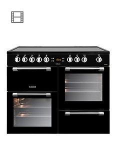 Leisure CK100C210K Cookmaster 100cm Electric Range Cooker with Ceramic Hob and Optional Connection - Black Best Price, Cheapest Prices
