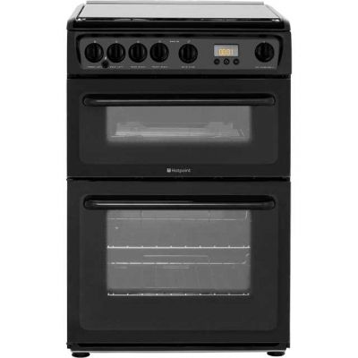 Hotpoint HAGL60K 60cm Gas Cooker - Black Best Price, Cheapest Prices