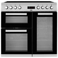 Beko KDVC90X 90cm Electric Ceramic Range Cooker in Stainless Steel Best Price, Cheapest Prices