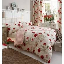 Catherine Lansfield Wild Poppies Duvet Cover Set - Double Best Price, Cheapest Prices
