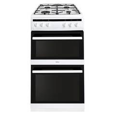 Amica AFG5500WH 50cm Double Oven Gas Cooker - White Best Price, Cheapest Prices