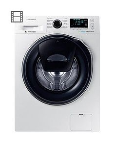 Samsung Ww90K6610Qw/Eu 9Kg Load, 1600 Spin Addwash Washing Machine With Ecobubble&Trade; Technology - White Best Price, Cheapest Prices