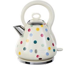RUSSELL HOBBS Emma Bridgewater Polka Dot Traditional Kettle - Cream Best Price, Cheapest Prices