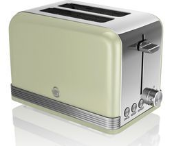 SWAN ST19010GN 2-Slice Toaster - Green Best Price, Cheapest Prices