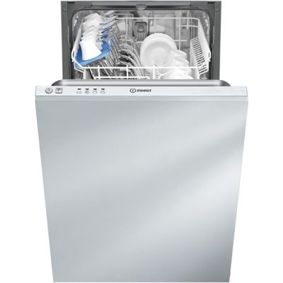 Indesit DISR14B1 Fully Integrated Slimline Dishwasher - White Control Panel - A+ Rated