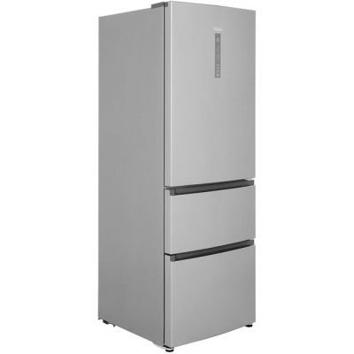 Haier A3FE632CSJ 60/40 Frost Free Fridge Freezer - Silver - A+ Rated Best Price, Cheapest Prices