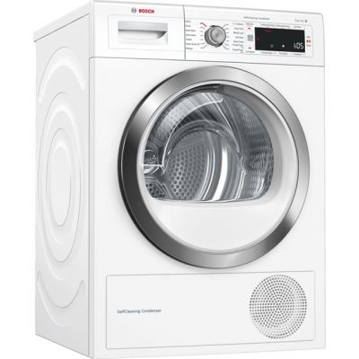 Bosch Serie 8 WTW87561GB 9Kg Heat Pump Tumble Dryer - White - A++ Rated Best Price, Cheapest Prices