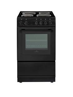 New World NW50ES 50cm Electric Solid Plate Single Oven with Optional Connection - Black Best Price, Cheapest Prices