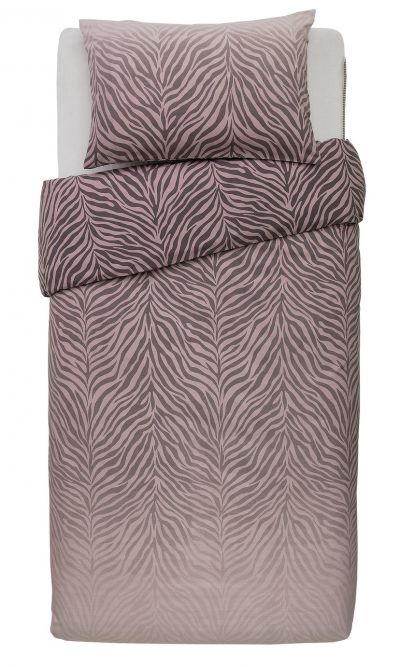 Argos Home Blush Zebra Ombre Bedding Set - Single Best Price, Cheapest Prices
