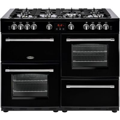 Belling Farmhouse110GT 110cm Gas Range Cooker - Black - A/A Rated Best Price, Cheapest Prices