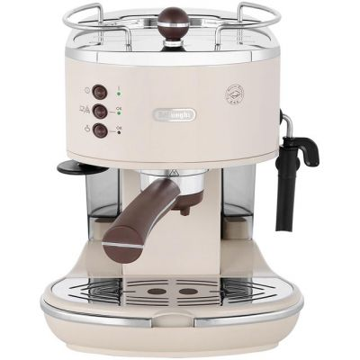 De'Longhi Icona Vintage ECOV311.BG Espresso Coffee Machine - Cream Best Price, Cheapest Prices