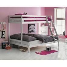 Argos Home Kaycie White Triple Bunk Bed Frame Best Price, Cheapest Prices