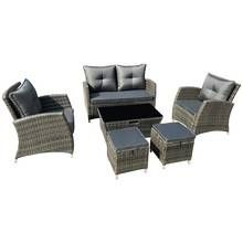 Argos Home 6 Seater Rattan Effect Sofa Set - Brown