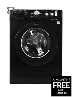 Indesit Innex BWD71453K 7kg Load, 1400 Spin Washing Machine - Black, A+++ Energy Rating Best Price, Cheapest Prices