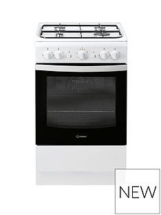 Indesit IS5G1KMW 50cm Wide Gas Single Oven Cooker - White Best Price, Cheapest Prices