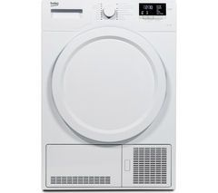 BEKO DCX83100W Condenser Tumble Dryer - White Best Price, Cheapest Prices