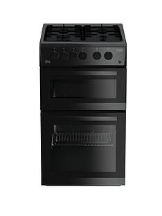 Beko KDG582K 50cm Twin Cavity Gas Cooker - Black Best Price, Cheapest Prices