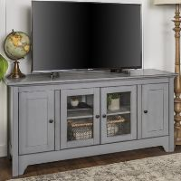 Large Grey Wooden TV Unit with Storage - Foster - TV's up to 55