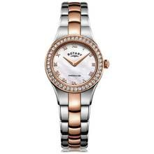 Rotary Ladies' Rose Gold Coloured and Stainless Steel Watch Best Price, Cheapest Prices