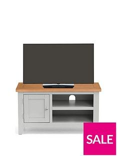 Julian Bowen Richmond Ready Assembled TV Unit - fits up to 40 inch TV Best Price, Cheapest Prices