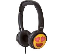 GROOV-E GV-EMJ13 EarMOJI's Heart Eyes Face Kids Headphones - Black Best Price, Cheapest Prices