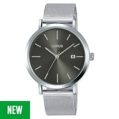 Lorus Black Dial Mens Stainless Steel Watch Best Price, Cheapest Prices