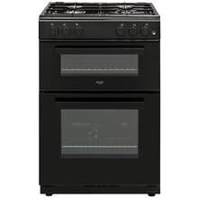 Bush BGC60TB Twin Gas Cooker - Black Best Price, Cheapest Prices