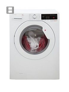 Hoover Dynamic Next DXOA49LW3 9kg Load, 1400 Spin Washing Machine with One Touch - White Best Price, Cheapest Prices