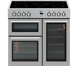FLAVEL MLN9CRS 90 cm Electric Range Cooker - Silver Best Price, Cheapest Prices