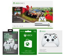 MICROSOFT Xbox One S, Forza Horizon, LEGO Speed Champions, Xbox Live £15 Gift Card, Docking Station & Wireless Controller Bundle Best Price, Cheapest Prices