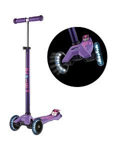 Micro Scooter Maxi Deluxe Led Purple Scooter Best Price, Cheapest Prices
