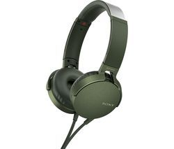 SONY Extra Bass MDR-XB550AP Headphones - Green Best Price, Cheapest Prices