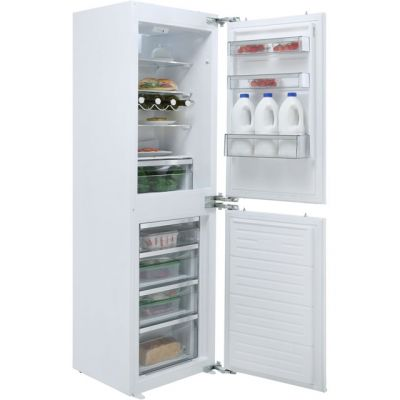 Sharp SJ-B1227M00X-EN Integrated 50/50 Frost Free Fridge Freezer with Fixed Door Fixing Kit - White - A+ Rated Best Price, Cheapest Prices