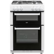 Bush BGC60TW Twin Gas Cooker - White Best Price, Cheapest Prices