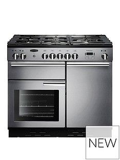 Rangemaster  PROP100DFFSS Professional Plus 100cm Wide Dual Fuel Range Cooker - Stainless Steel Best Price, Cheapest Prices