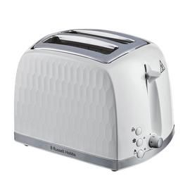 Russell Hobbs 26060 Honeycomb 2 Slice Toaster - White Best Price, Cheapest Prices