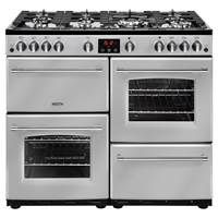 Belling Farmhouse 100G 100cm Gas Range Cooker in Silver 444444140 Best Price, Cheapest Prices