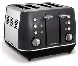 MORPHY RICHARDS Evoke One 4-Slice Toaster - Black Best Price, Cheapest Prices