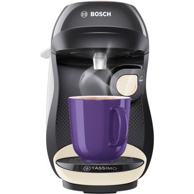 Tassimo by Bosch Happy TAS1007GB Pod Coffee Machine - Black / Cream Best Price, Cheapest Prices