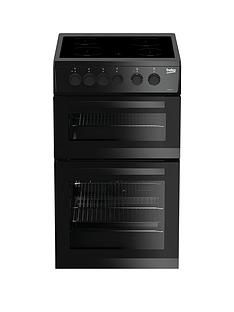 Beko KDC5422AK 50cm Twin Cavity Electric Cooker - Black Best Price, Cheapest Prices