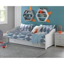 Argos Home Brooklyn White Day Bed with Trundle Best Price, Cheapest Prices