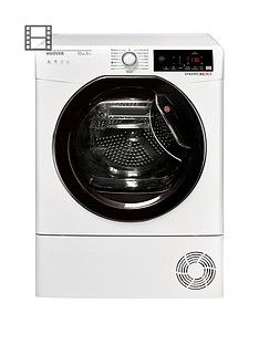 Hoover Dynamic Next DXWH10A2TKE 10kg Load, Aquavision, Heat Pump Tumble Dryer with One Fi Extra - White/Black & Tinted Door Best Price, Cheapest Prices